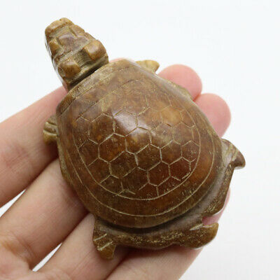 Chinese hongshan culture red jade hand carved dragon turtle pendant amulet G93