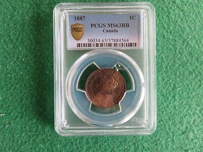 1897 Canada 1 C Cent Penny Coin PCGS MS 63 RB Red Brown - RARE!!!