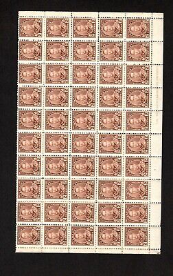 Canada Complete Mint Never Hinged Sheet Scott # 212 Of Future King George Vi