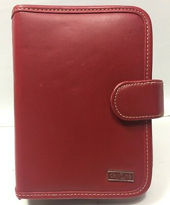 Day One by Franklin Covey Organizer, Red Faux Leather, Snap Binder Planner