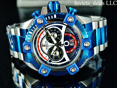 Invicta Men's 63mm Reserve Grand ARSENAL Swiss Chrono Sapphire Blue 2Tone Watch