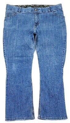Riders By Lee Womens Mid Rise Boot Cut Jeans Plus Size 20W