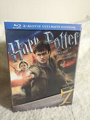 Harry Potter & The Deathly Hallows Parts 1&2 Ultimate Edition Blu-Ray Rare OOP