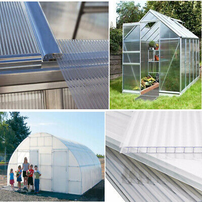 Polycarbonate Replacement Sheet 4mm Greenhouse Shed Clear Glazing Wall Panel UK