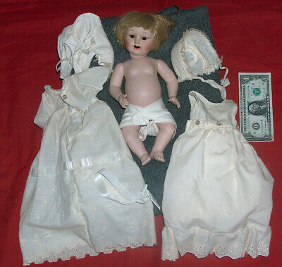 "1984 Shelburne Museum Gallery Originals P.M. Grete 12"" Doll Blonde Brown Eye 3/0"
