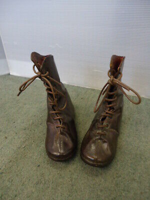 Pair Of Victorian Leather Childrens Boots