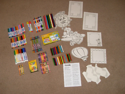 Crayola Job Lot Of Colouring Crayons Pencils Pens Window Markers & Popup Cards