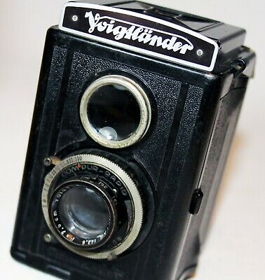 VOIGTLANDER BRILLANT TLR Camera V6 Bakelite VOIGTAR 75mm f3.5 Lens Brilliant VGC