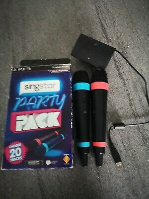 Official Sony Ps4 & Ps3 - Singstar Wireless Microphones with Receiver