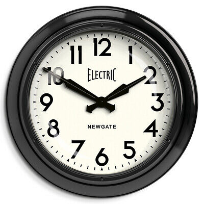 Extra Large Metal Black Wall Clock The Newgate Giant Electric 60cm