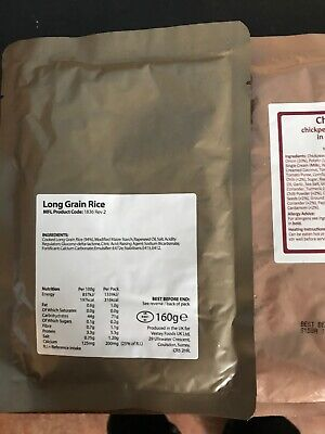 Lot 2 British Army 24 Hour Ration Pack Main Meals Buy Now