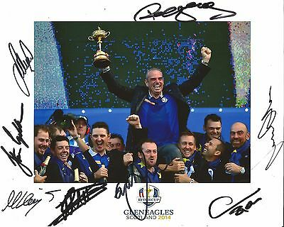 Hand Signed 8x10 photo RYDER CUP 2014 WESTWOOD KAYMER MCDOWELL DONALDSON +my COA