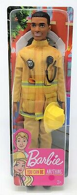 Barbie You Can Be Anything Firefighter Ken Boy Career Doll Toy