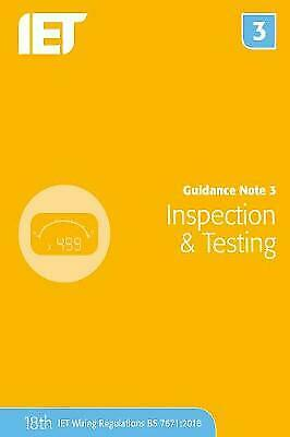 Guidance Note 3: Inspection & Testing (Electrical Regulations), The Institution