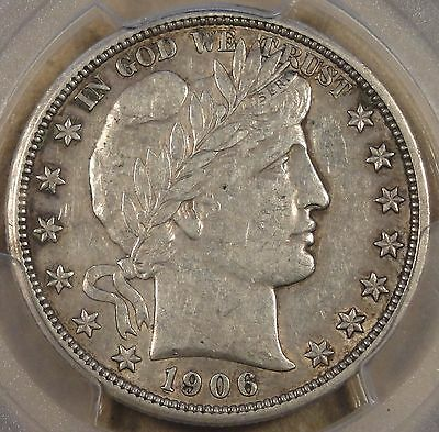 1906-O Barber Half Dollar 50c PCGS Certified XF45 Rev. Rotated 45 Degrees Scarce