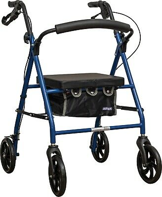 AIDAPT Rollator with Bag in Blue VP173FC