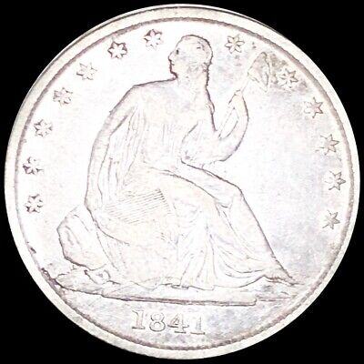 1841-O Seated Half Dollar NICELY CIRCULATED New Orleans High End Liberty Silver!