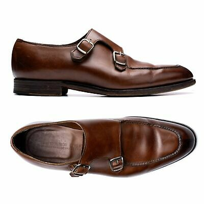 """EDWARD GREEN """"Fulham"""" Last 82 Brown Norwegian Double Monk Shoes 6.5 US 7-7.5"""