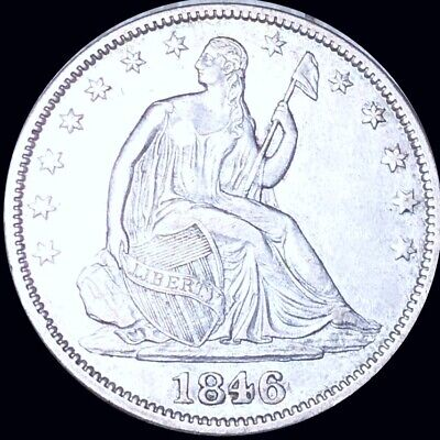 1846 Seated Half Dollar APPEARS UNCIRCULATED Philly ms bu 50c Liberty Silver NR!