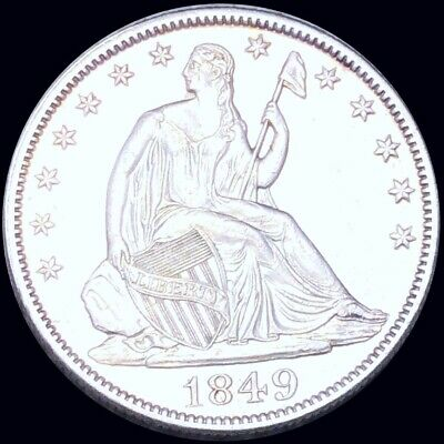 1849 Seated Half Dollar HIGHLY UNCIRCULATED Philly ms bu 50c Liberty Silver NR!