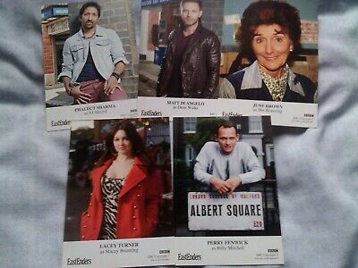 Eastenders unsigned cast card bundle