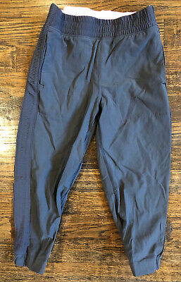 NEW ivivva by lululemon Girl's Kid Your Pursuit Crop Cropped Pants Grey 7 years