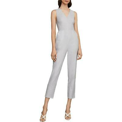 BCBG Max Azria Womens Cotton Pinstripe Cropped Jumpsuit BHFO 5012
