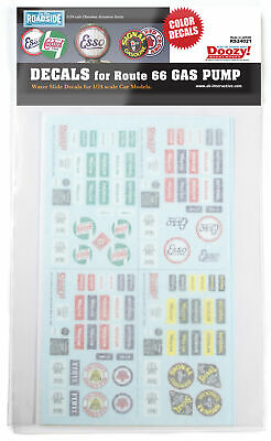 Doozy! Decals For Route 66 Gas Pump Diorama Accessories 1:24 Plastic Model Kit