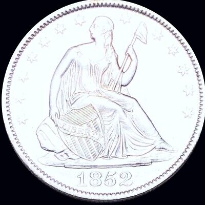 1852 Seated Half Dollar APPEARS UNCIRCULATED Philly ms bu 50c Liberty Silver NR!