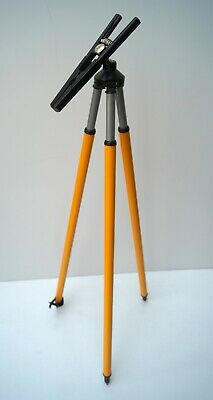 Aluminum telescopic tripod for prism pole industrial surveying instrument survey