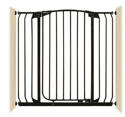 """38""""-42"""" XTall Auto-Close Adjustable Black Indoor Dog, Pet & Baby Safety Gate"""