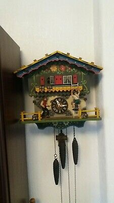 genuine black forest musical cuckoo clock automated farmers daughter needs work