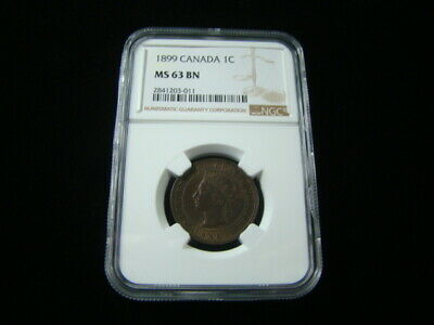 Canada 1899 Large Cent NGC Graded MS63 BN Very Nice!!