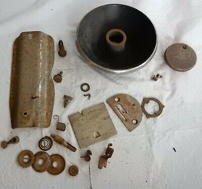 Vintage Singer Sewing Machine 66 Parts Lot Check Pictures For Included Parts