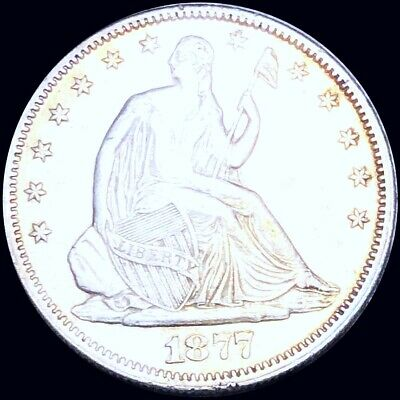 1877 Seated Half Dollar CLOSELY UNCIRCULATED Philadelphia 50c Liberty Silver NR!