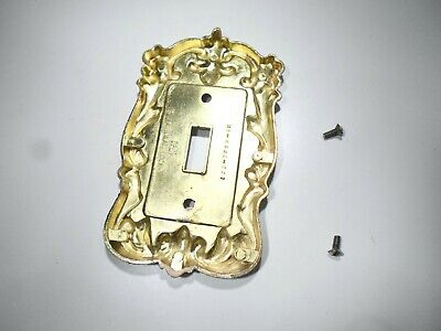 VTG Ornate National Lock Single Toggle Metal Light Switch Plate Cover H6-3620