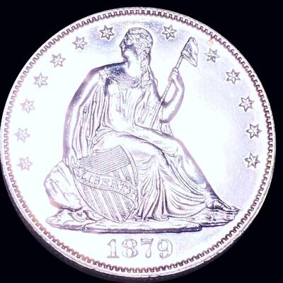 1879 Seated Half Dollar HIGHLY GEM UNCIRCULATED Philly ms bu 50c Liberty Silver!