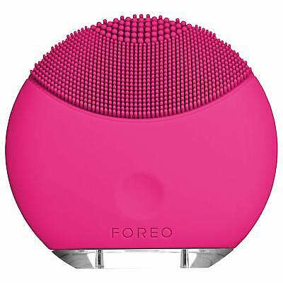 FOREO LUNA mini Silicone Facial Brush with Cleansing for All Skin Types Magenta