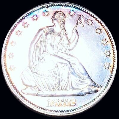 1882 Seated Half Dollar PROOF GEM UNCIRCULATED Philly ms 50c Liberty Silver NR!