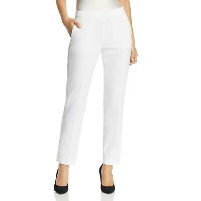 BOSS Hugo Boss Womens Taxtiny White Wool Blend Trouser Pants 14 BHFO 4272