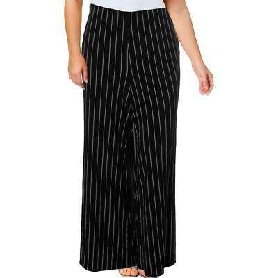 Lauren Ralph Lauren Womens Black Striped Straight Leg Pants Plus 3X BHFO 4551