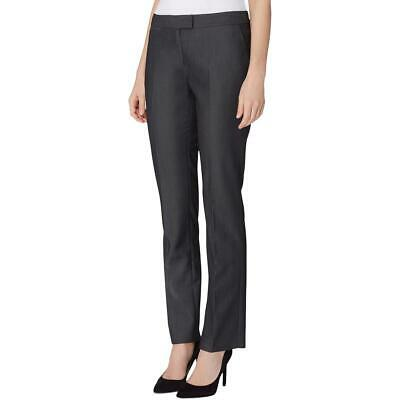Tahari ASL Womens Gray Pleated Stretch Dress Pants 14 BHFO 0388