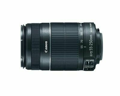Canon EF-S 55-250mm F/4-5.6 IS Telephoto Zoom Lens - GREAT CONDITIONS W/ CAPS