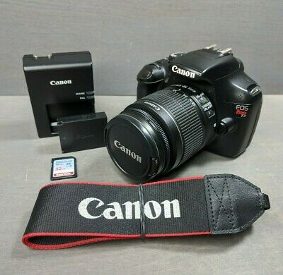 Canon EOS Rebel T3 12.2MP DSLR Camera (Kit w/ EF-S IS 18-55mm Lens) - 6K Clicks