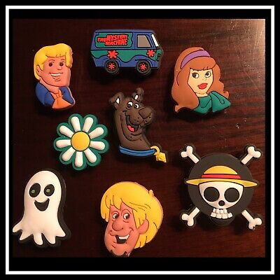 Set of 8 Shoe Charms for Crocs SCOOBY DOO Mystery Machine Fred Daphne Shaggy