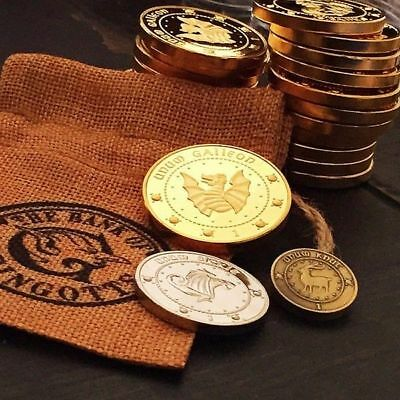 Hogwarts Gringotts Bank Wizarding Coins Galleons Commemorative Coin 3PCS Coins
