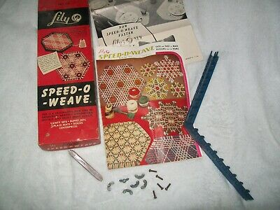 Vintage Speed-o-Weave by Lily Handicraft Weaving with Instructions Complete