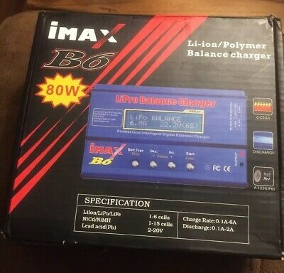 iMax B6 Digital LCD Lipo NiMh Battery balance Charger *AC Adapter Not Included*