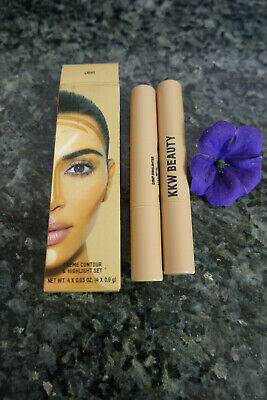 KKW beauty creme contour & highlight set new in box in light