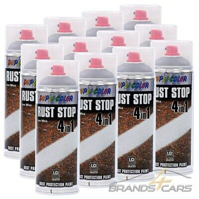 DUPLI COLOR 12x 400ml ROSTSCHUTZ GRUNDIERUNG RUST STOP 4IN1 ANTHRAZIT 223617